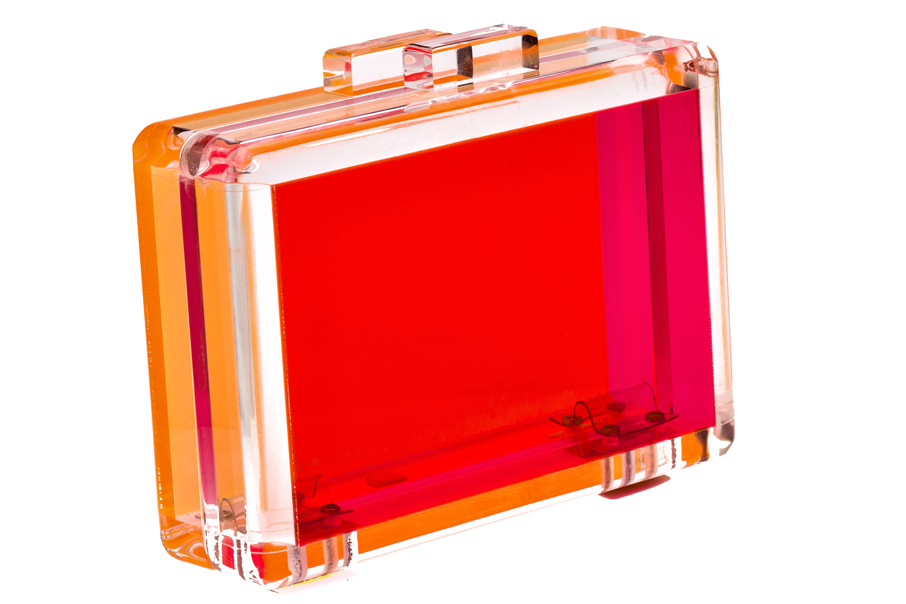 Bright Love Lucite Clutch