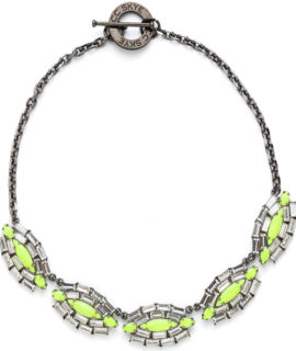 CC SKYE WEB - Queen Rebel Necklace - Green (1)