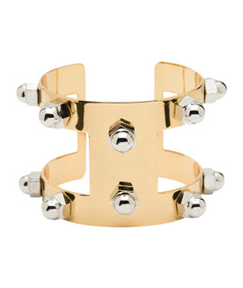 Bolt Stud Venice Cuff in Gold